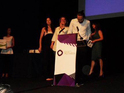 João Martinho Moura receiving the National Multimedia Award - Art and Culture