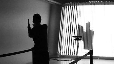 "Digital improvisation ""un homme. une machine"", Dancer & choreographer: Paulo Henrique, Digital Art: João Martinho Moura (2015)."