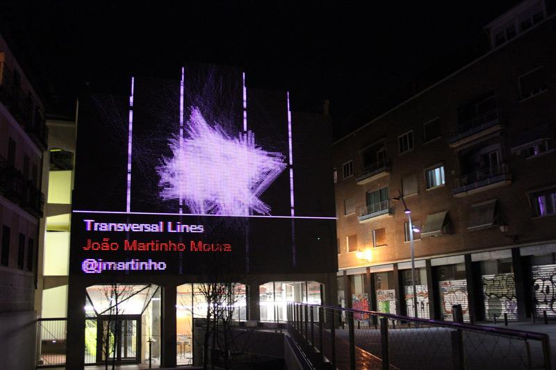 Transversal Lines (João Martinho Moura, 2010). Exhibition at Media Lab Prado