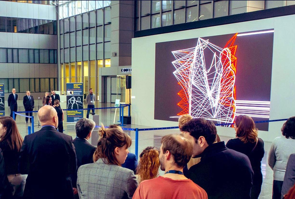 João Martinho Moura Exhibits Interactive Artwork at NATO Headquarters. 2019