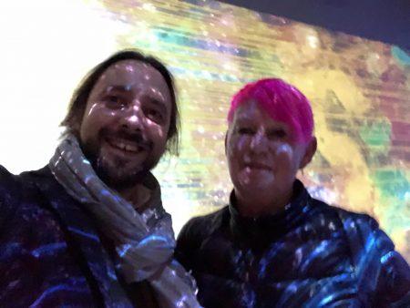 With Sue Gollifer. South Korea Artistic Algorithm Society. João Martinho Moura 2018